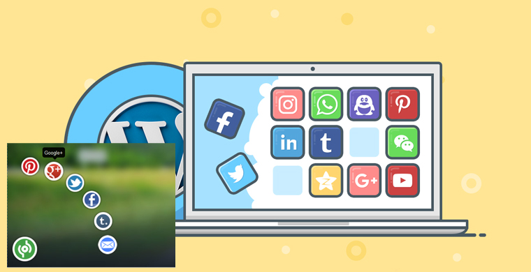 Animated Sassy Social Bookmark Gadget For Blogger